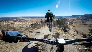 Mountain Biking Dakota Ridge to Red Rocks in...