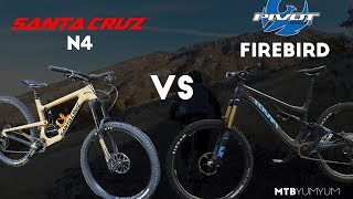 2018 Santa Cruz Nomad vs Pivot Firebird