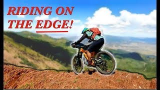 RIDING on the EDGE at 10,000 feet! | Mountain...