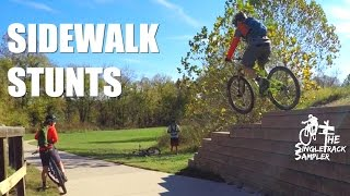 SIDEWALK STUNTS WITH SETH'S BIKE HACKS and...