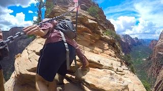 SKETCHY HIKE in Zion - Angel's Landing Top...