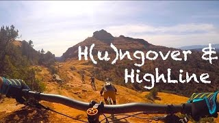 MTB Close Calls on Hangover and HighLine...