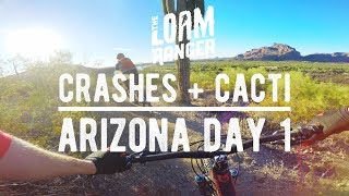 CRASHES AND CACTI // Mountain Biking Hawes In...