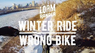 WINTER RIDE // Wrong Bike