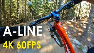 A-Line with GoPro Hero 6! - Whistler Bike Park...
