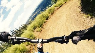 Sunpeaks Bike Park - GoPro Bear on the Trail!