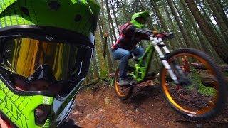 Downhill Freeride Forest -- Winter Shredding