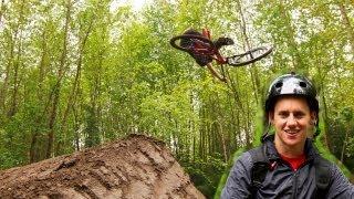 Hardtail Dirt Jump Tricks at a Private Spot