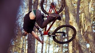 Anthony Messere MTB Dirt Jumping on a Mulch Jump!