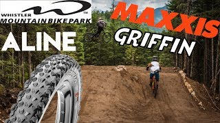 Maxxis Griffin Tire vs. A-Line @ Whistler MTB...