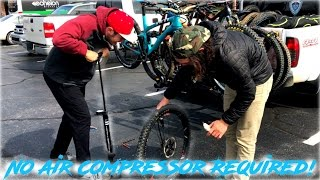 How to Change a Tubeless Tire @ the Trail w/...