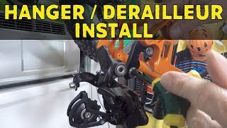 How to install a derailleur hanger and rear...