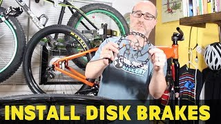 How to install hydraulic brakes on a mtb | How...