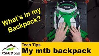 Mountain Bike Backpack - What I take in my...
