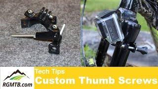 Custom Thumb Screws for action cameras