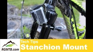 Stanchion mount for a sweet action camera angle