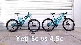 Yeti SB5c vs SB4.5c - Same but different