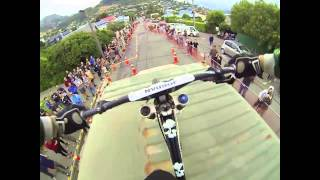 Lyttelton Urban Downhill on board with Nick...