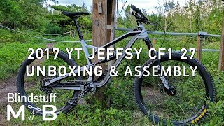 New bike day! - 2017 YT Jeffsy CF1 27 unboxing...