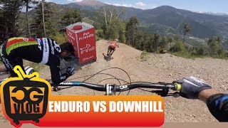 RIDING a WORLD CUP Downhill Track On MY ENDURO...
