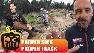 RAW Downhill MTB Practice at UCI World Cup in...