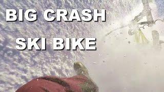MEGA Crash HIGH SPEED Ski Bike SNOWTRIKE -...