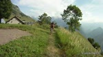 Nice forest track down Alpe d´Huez..