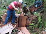 18 cedar slats in 31 seconds.