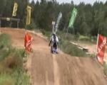 Riding motocross