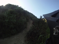 My Friend crashing down canyon acres in laguna