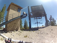 top of flow at mammoth