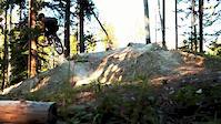 Billy Adamson rides his bike in mighty Banff...