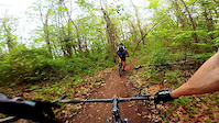 Bombing down the Osprey Trail at Dirt Fest 2014