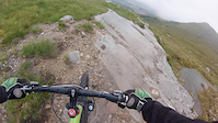 Trail side fix on the red DH at Fort William