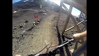 Trail railing Mt. Bachelor, Crash!