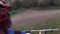 Alain Mountain Biking in Sprite trail