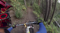 Alain DOwnhill Mountain Biking in the Double...