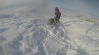 Avalanche's 1st time out in deep snow