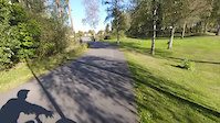 Langs parkerings plassen-prestegårdsskogen