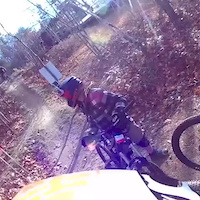 Highland pinkbike in the wind