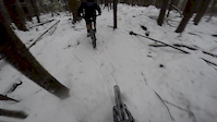Quick snow ride