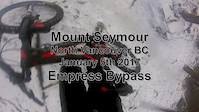 Empress Bypass in the snow - Mount Seymour...
