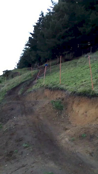 Big ol crash on crankworx rotorua dh step up