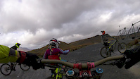 7 year old Katerina hitting the red at Stiniog