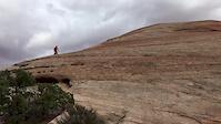 Steep Wall on Ramblin in Moab