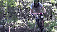 Mike Giano on the DH Course
