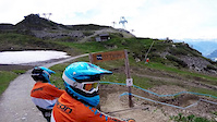 VerbierBikepark blue run 'Tsopu' with Ludo May...