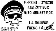 Les Zittieux into Sunset Roc - La Rosiere -...
